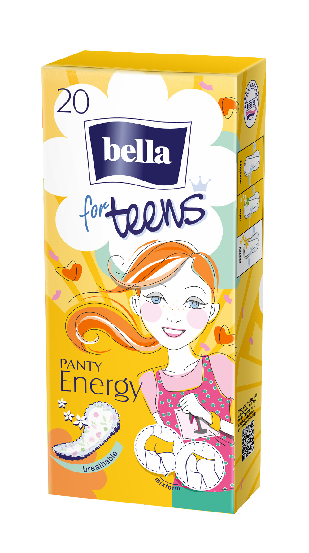 Slipové vložky Bella for Teens Energy - 20 ks